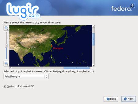 安装 Fedora 12,选择时区[图]