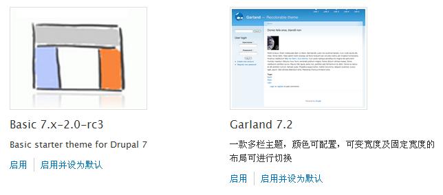 Drupal 7 启用主题