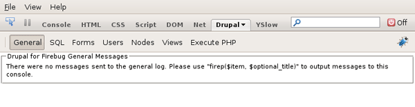 Drupal for Firebug 通用面板