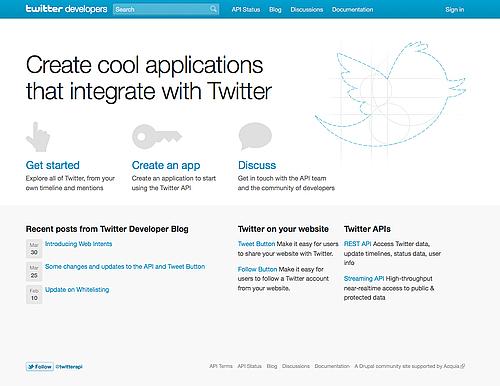Twitter 开发人员网站